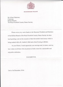 Congratulatory Letter from Her Majesty The Queen