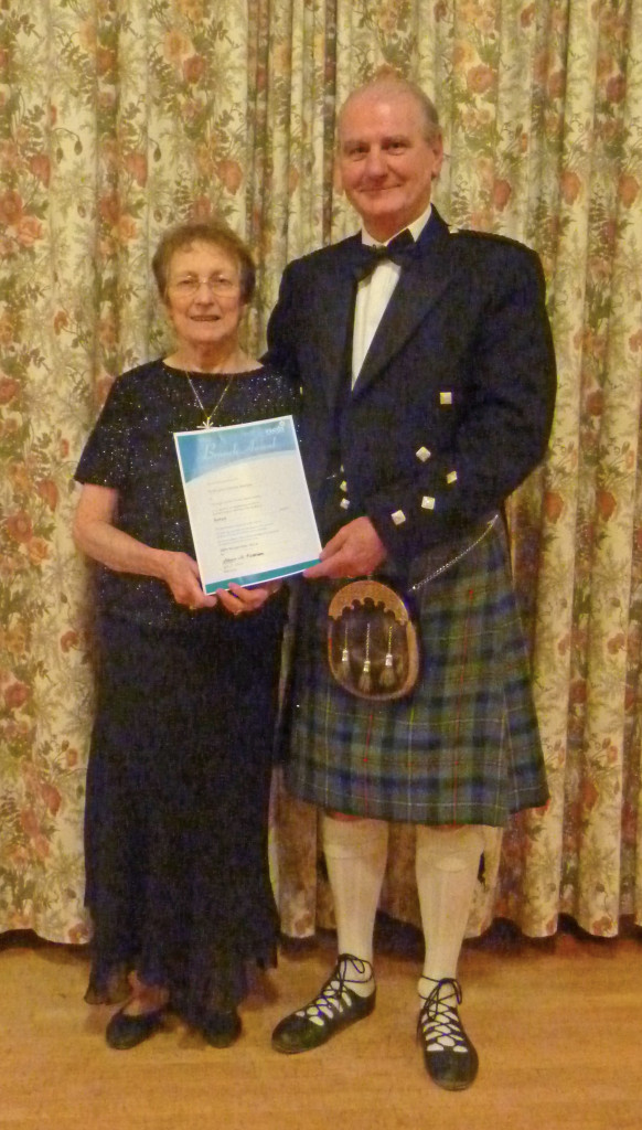 Ruth and Ronnie Barnes. Recipients of Branch Award